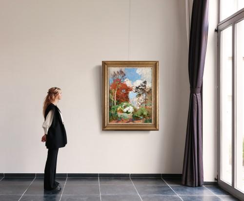 The garden of Emile Claus - Emile Claus (1849-1924) -