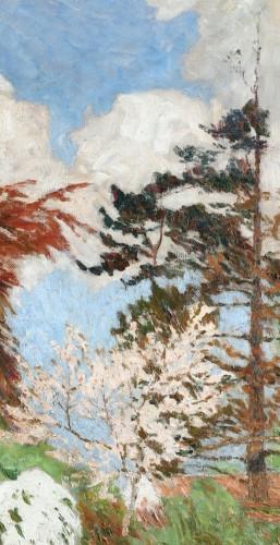 - The garden of Emile Claus - Emile Claus (1849-1924)
