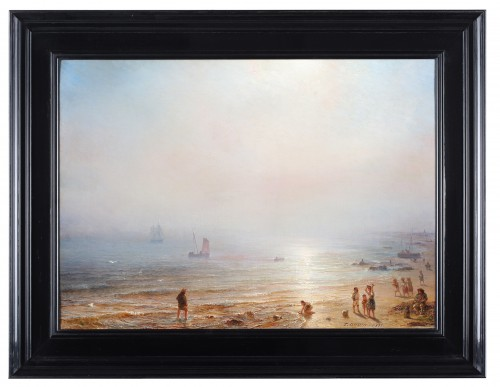 Fisherfolk on the beach - Théodore Gudin (1802-1880)  - Paintings & Drawings Style