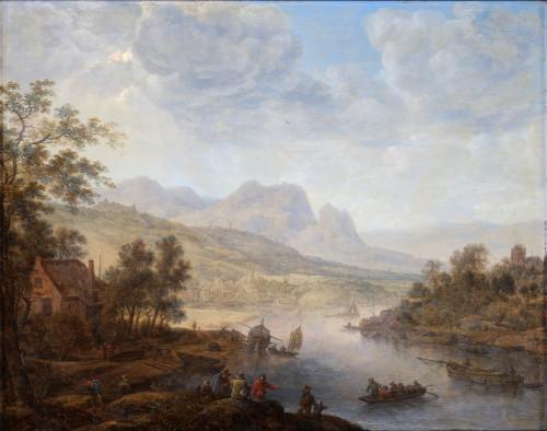 A Rhenish Landscape - Herman Saftleven (Rotterdam 1609- Utrecht 1685)