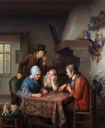 A game of dominoes - François Joseph Luckx (1802-1849)
