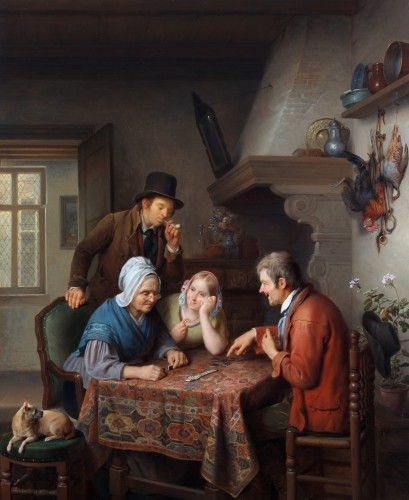 A game of dominoes - François Joseph Luckx (1802-1849)  - Paintings & Drawings Style