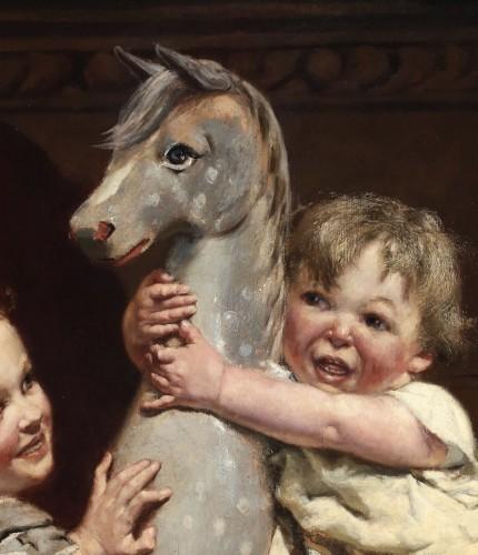Riding on a horse - Edgar Farasyn (1858-1938) -