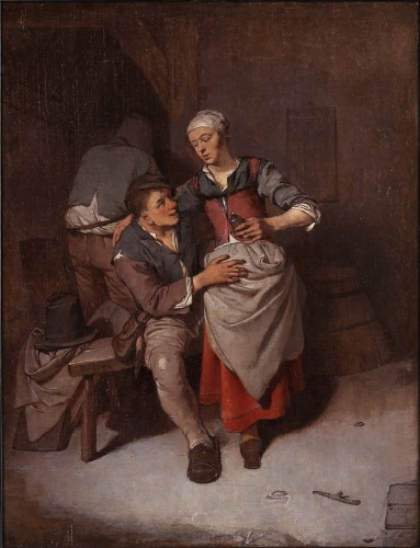 Paintings & Drawings  - The seduction - Cornelis Pietersz. Bega (1631/1632 – 1664)