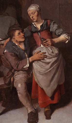The seduction - Cornelis Pietersz. Bega (1631/1632 – 1664) -