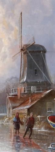 19th century - Winterpleasures on ice - Simon van der Ley (1840 - 1860)