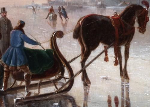Winterpleasures on ice - Simon van der Ley (1840 - 1860)  -