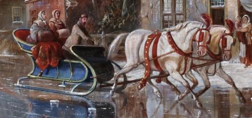 - Winterpleasures on ice - Simon van der Ley (1840 - 1860)