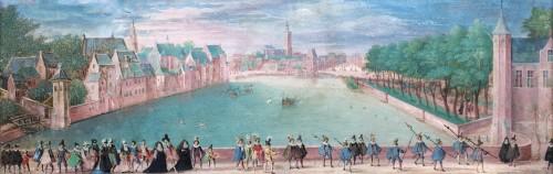 "View on ""De Hofvijver"", den Hague (ca. 1580-1600)  - Paintings & Drawings Style"