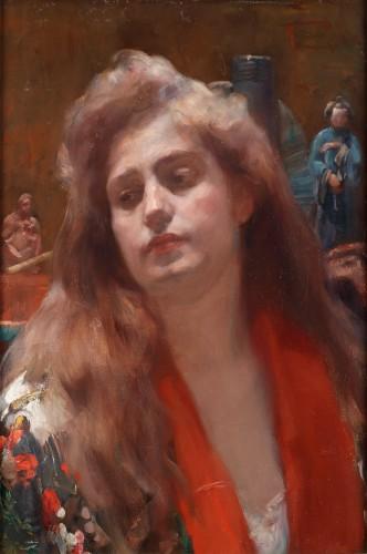 A portrait of a lady in an oriental interior - Herman Richir (1866-1942)