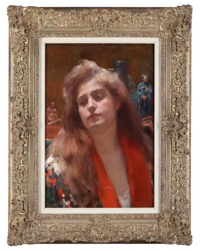 Paintings & Drawings  - A portrait of a lady in an oriental interior - Herman Richir (1866-1942)