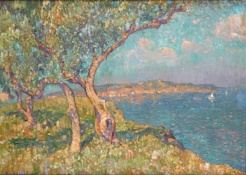 A panoramic view of Saint-Tropez - Paul Leduc (1876-1943)