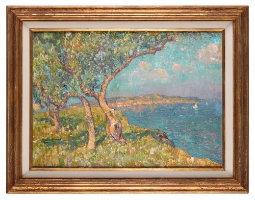A panoramic view of Saint-Tropez - Paul Leduc (1876-1943) - Paintings & Drawings Style