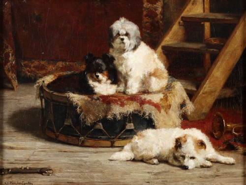 A moment of rest - Charles Van den Eycken (1859-1923)