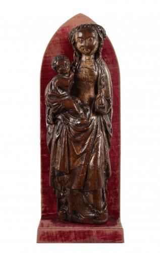 Virgin and Child, Mechelen circa 1500 - Sculpture Style