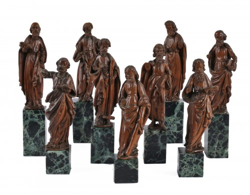 A set of 9 apostels, probably German