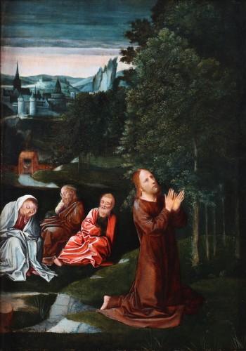 Christ in the garden of Olives, follower of Isenbrandt -