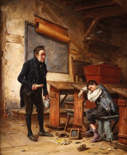 Gérard Portielje ( 1856-1929) - the tired schoolboy - Paintings & Drawings Style