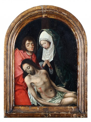 The Lamentation of Christ - Circle of Geertgen tot Sint Jans (1460-1490) - Paintings & Drawings Style