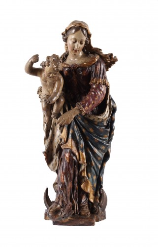 A group in terracotta representing the Virgin and Child - Antwerp 17th century - Sculpture Style