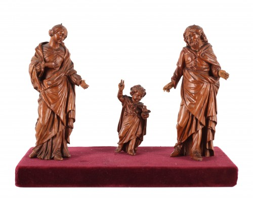 The Holy family - Flemish 17th century - Sculpture Style