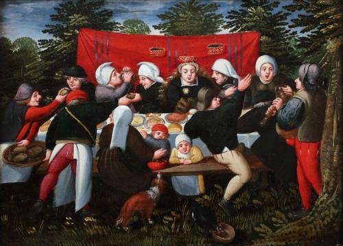 The wedding Feast - Marten van Cleve (1527 Antwerp - 1581 Antwerp) - Paintings & Drawings Style