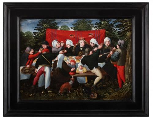 Paintings & Drawings  - The wedding Feast - Marten van Cleve (1527 Antwerp - 1581 Antwerp)