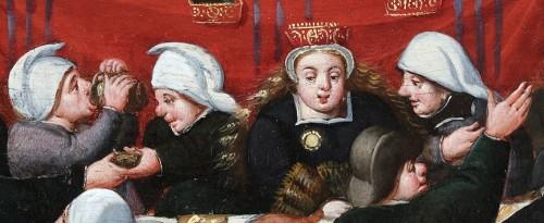 <= 16th century - The wedding Feast - Marten van Cleve (1527 Antwerp - 1581 Antwerp)
