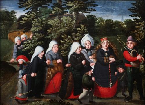The bride's wedding day- (Marten van Cleve 1527 Antwerp - 1581 Antwerp) - Paintings & Drawings Style