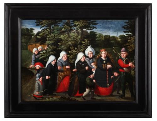 Paintings & Drawings  - The bride's wedding day- (Marten van Cleve 1527 Antwerp - 1581 Antwerp)