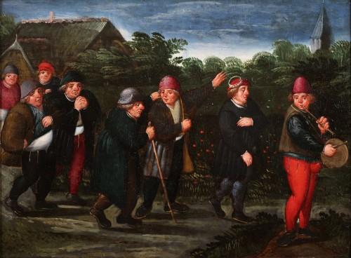 The groom's wedding day - Marten van Cleve (1527 Antwerp - 1581 Antwerp)  - Paintings & Drawings Style