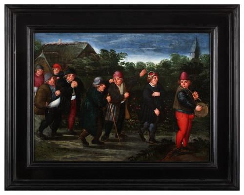 Paintings & Drawings  - The groom's wedding day - Marten van Cleve (1527 Antwerp - 1581 Antwerp)