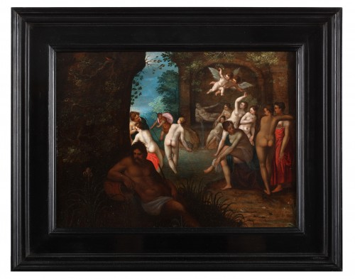 Paintings & Drawings  - Diana and her companions bathing -  Adriaen van Stalbemt, 1580-1662
