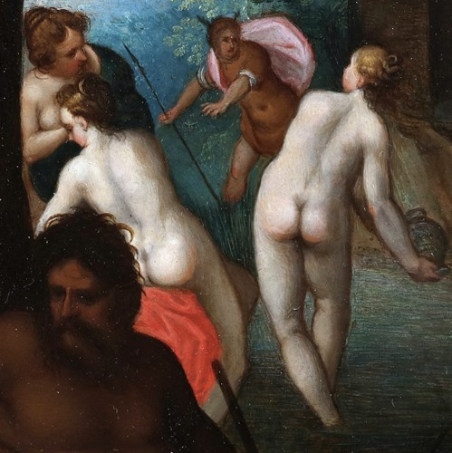 Diana and her companions bathing -  Adriaen van Stalbemt, 1580-1662 -