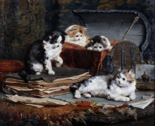 A happy family- Charles Van den Eycken (Antwerp 1859 - Antwerp 1923)