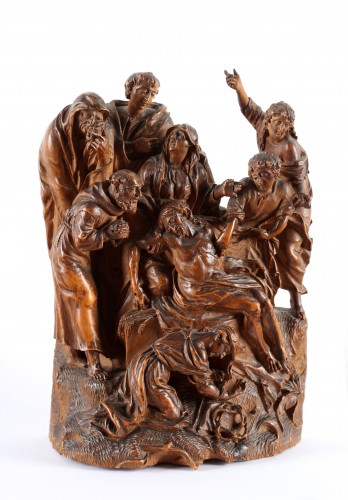 Sculpture  - A group representing the Lamentation of Christ- Netherlandish, 17th century