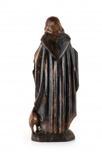 Sculpture  - A group representing Saint Anthony with his pig standing in flames