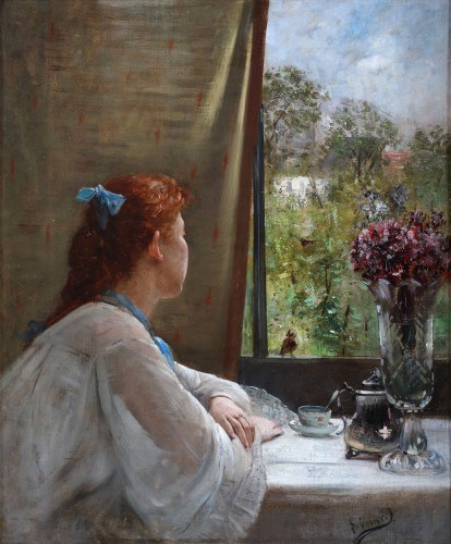 A moment of reflection - Charles Verwee (1832-1882) - Paintings & Drawings Style