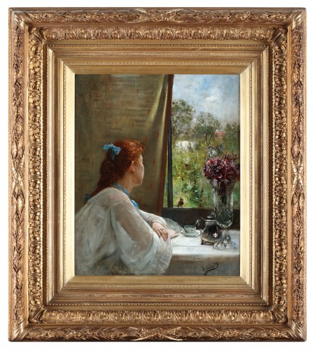 Paintings & Drawings  - A moment of reflection - Charles Verwee (1832-1882)