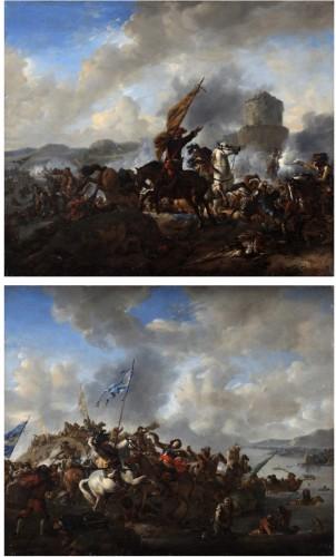 The battle of Zusmarshausen - Jan Wyck (1644-1702)