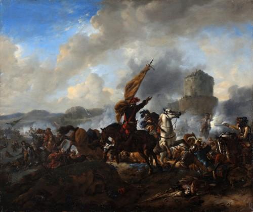 The battle of Zusmarshausen - Jan Wyck (1644-1702) - Paintings & Drawings Style