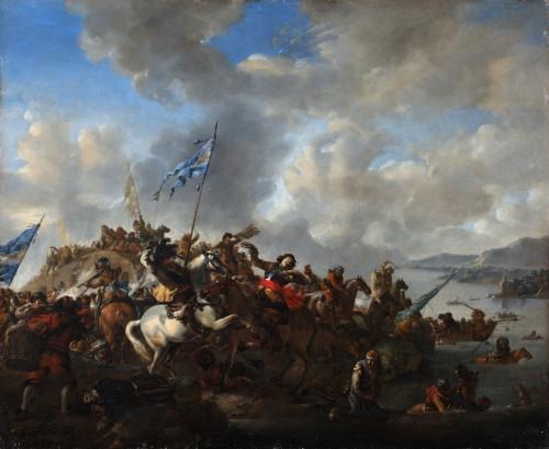 Paintings & Drawings  - The battle of Zusmarshausen - Jan Wyck (1644-1702)