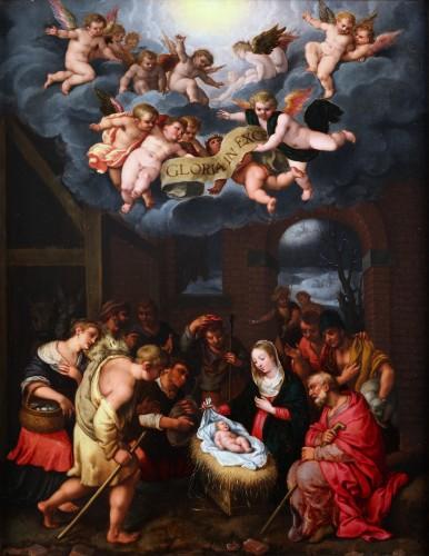 The Adoration - Flemish school, early 17th century