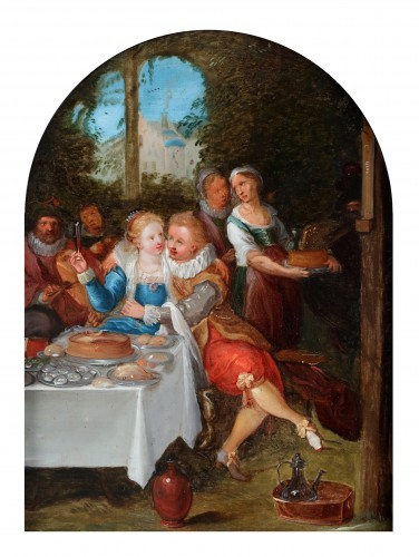 The parable of the prodigal son - Flemish School, 17th century - Paintings & Drawings Style