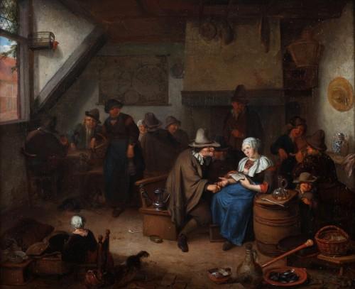 Merry making at the inn - Richard Brakenburgh (1650-1702)