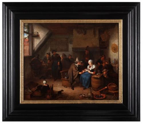 Paintings & Drawings  - Merry making at the inn - Richard Brakenburgh (1650-1702)