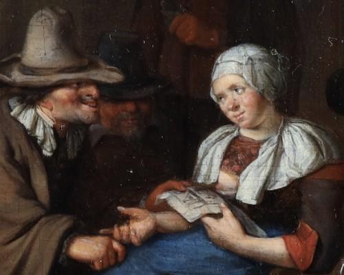 Merry making at the inn - Richard Brakenburgh (1650-1702) -