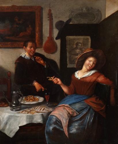 Courting - Richard Brakenburgh (1650-1702)