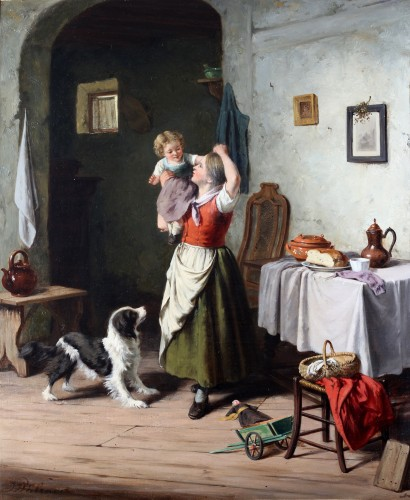 Family joys - Jan Walraven (1827 - after 1878)