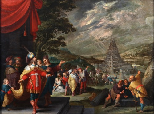 The construction of the Tower of Babel -  Frans Franken II and workshop